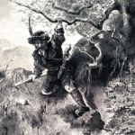 Старый немецкий егерь на охоте