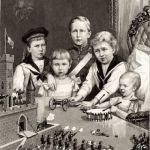 Дети Императора во время Рождественских забав