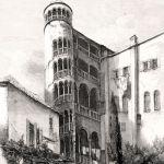 Старинная винтовая лестница в Венеции
