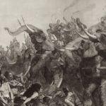 Битва Гамилькара с варварами (боевые слоны)