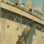 Прибытие пассажирского парохода в Александрии