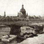 Вид с высоты на Дрезден