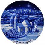 Рождественская тарелка 1987 года
