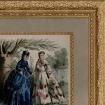Мода 19-й век. Две дамы у пруда.