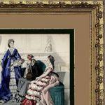 Мода 19-й век. Дамы в художественной галерее.