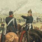 Король Вильгельм со своим штабом близ Гравелот