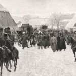 Наполеон покидает остатки своей армии