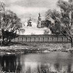 Новодевичий монастырь с западной стороны