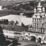 Общий вид Новодевичьего монастыря сверху