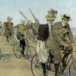 Парад велосипедистов в Остенде