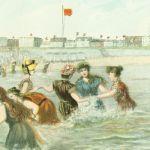 Купальная сцена женского пляжа в Норденай