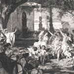 Театрализованная постановка суда Париса в древнем Риме