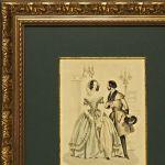 Старинная цветная гравюра, «La Mode»
