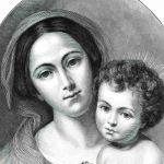 Мадонна с младенцем на пути несущего крест Христа