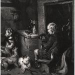 Шотландский горец - охотник играет на волынк