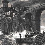 Пираты атакуют замок на море