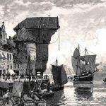 Старый кран в порту Гданьска