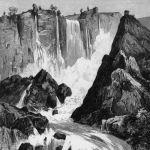 Водопад в районе Терни Италии