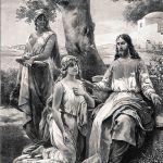 Христос у Марии и Марфы