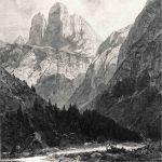 Три вершины в районе Доломитовые Альпы (Италия)